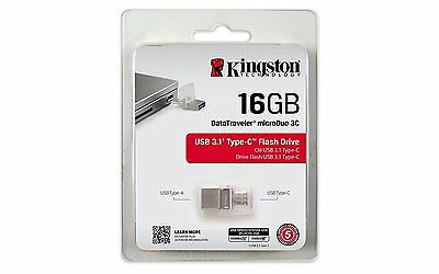 Kingston DataTraveler MicroDuo 16GB Type-C USB 3.1 Flash Drive - Android Devices
