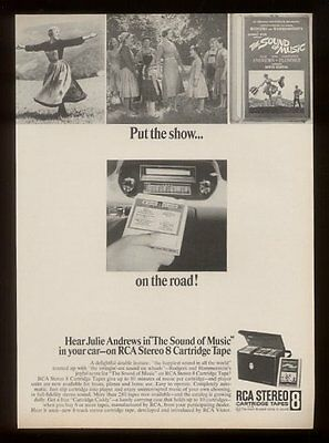 1966 The Sound of Music 2 photo RCA 8-track tapes vintage print ad