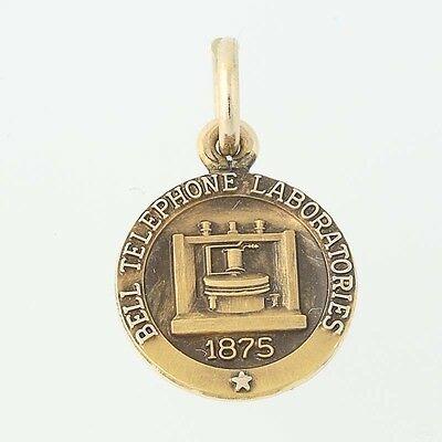Bell Telephone Laboratories Charm - 10k Yellow Gold Company Service Keepsake