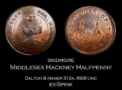 Skidmore's Middlesex Hackney Conder Halfpenny D&H 312a | R&B UNC