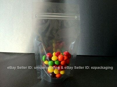 500 Pcs 4x6 Stand Up Zipper Pouches 4 Mil Freezer Bags (CSUP-A) - CLEAR-Clear