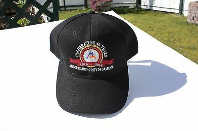 Ball Cap Hat - Airports Authority of Jamaica - 40th Ann - 2014 (H1705)