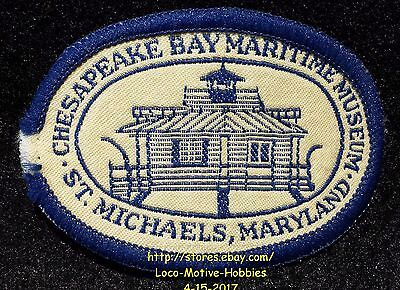 LMH PATCH Woven Badge  CHESAPEAKE BAY MARITIME MUSEUM  St. Michaels MD Exhibits