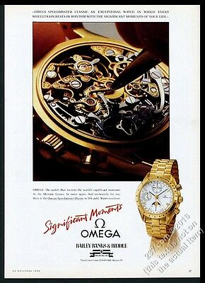 1990 Omega Speedmaster Professional Classic moonphase watch movement photo ad