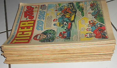 LOT OF 22  TIGER AND JAG COMICS 1969/ 70 , ROY OF THE ROVERS ,FOOTBALL pin-ups