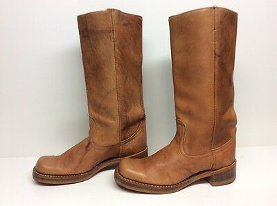 Womens Rodeo Motorcycle Leather Brown Boots Size 8.5 M