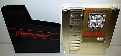 Nintendo NES The Legend of Zelda Gold Game Cartridge w/ Protective Case TESTED!