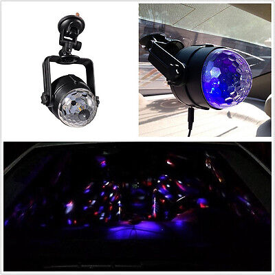 12V 6W Car SUV Interior Disco DJ Colorful LED Strobe Lighting Music Active Lamp