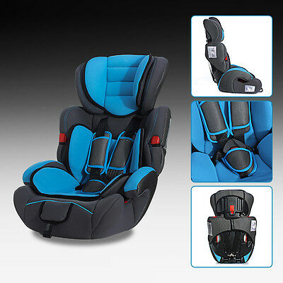 Blue Forward Facing Baby Children Kid Car Seat & Booster For 9-36kg US NEW