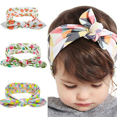 Kids Baby Headband Toddler Floral Bow Flower Hair Band Accessories Headwear