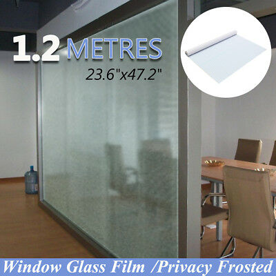 60cmx1.2m Sand Blast Privacy Frosted Frosting Removable Glass Window Film