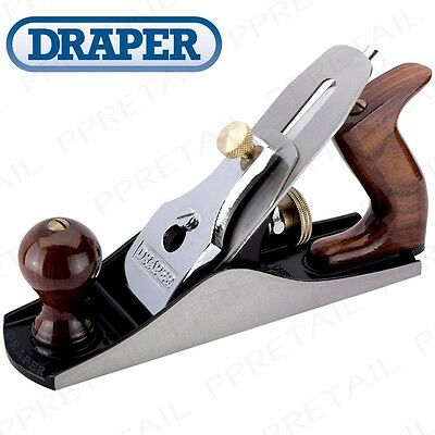 250mm ADJUSTABLE HEAVY DUTY SMOOTHING PLANE + SPARE IRON Draper Carpentry Wood