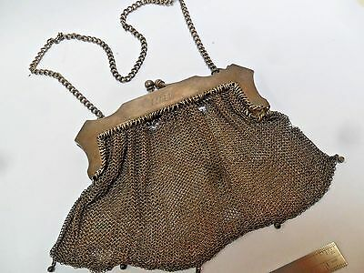 100+ Year Old Antique Silver Lady's Evening Mesh Purse Needs Repair