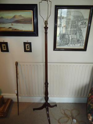 Antique mahogany standard floor lamp regency style Edwardian torchere
