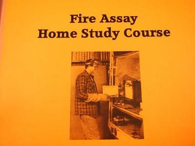 "How To ""Fire Assay Home Study Course"" Book-Gold-Earn your Certificate-Fluxes"