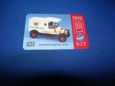 D.I.T Alternative Collection AC130 Police Ambulance £25 Phonecard New