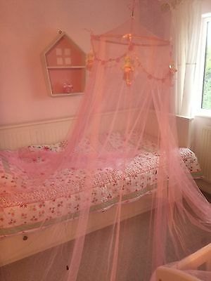Hanging Bed Canopy Princess Shabby Chic pink ballet teddy bears Girls Nursery