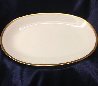 "Mitterteich Bavaria Germany Eternal Oval Serving Platter 13 3/4"" Thick Gold Band"