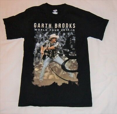 Garth Brooks 2014-2015 Tour S/s T Shirt [Black] Adult Small  [100% Cotton]