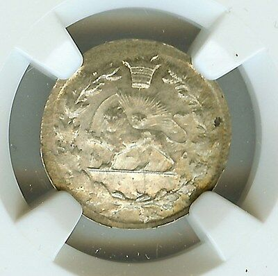 Middle Eastern Ah13(1)9 Silver Shahi  Km#966 Ngc Ms63  Rare!