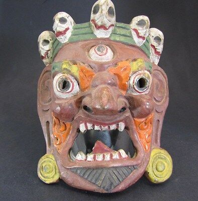 Vintage / Antique Tabiten Hand Carved & Painted Mask