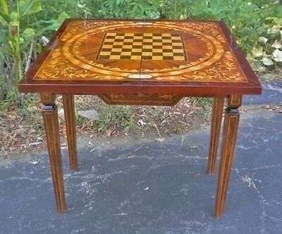 SPLENDID French style marquetry game center table