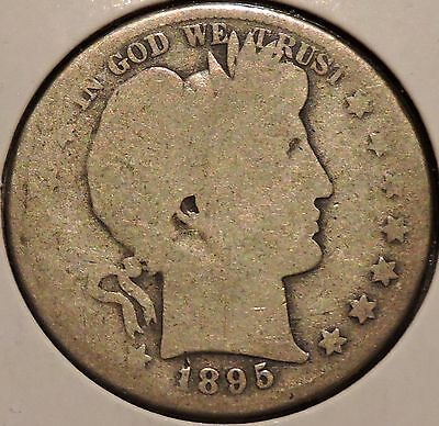 Barber Half - 1895-S - Historic Silver! - $1 Unlimited Shipping