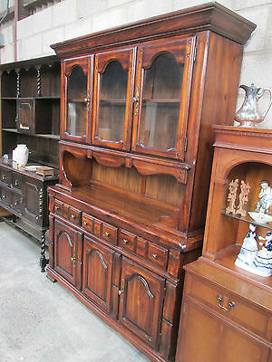 Lovely Large Quality Dresser Stained Pine