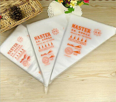 100pcs Disposable Cream Pastry Cake Icing Piping Decorating Bags Tools 4 Size