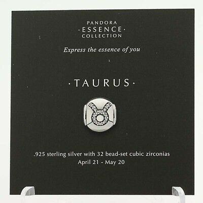 *BEAD NOT INCLUDED* New Pandora Essence Collection Taurus Zodiac 13 Stock Cards