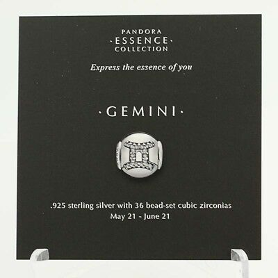 *BEAD NOT INCLUDED* New Pandora Essence Collection Gemini Zodiac 13 Stock Cards