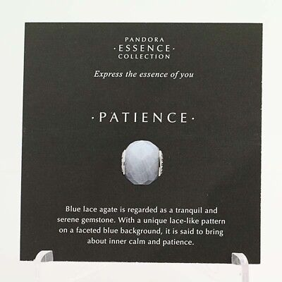 *BEAD NOT INCLUDED* New Pandora Essence Collection Patience 19 Photo Stock Cards