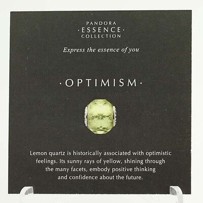*BEAD NOT INCLUDED* New Pandora Essence Collection Optimism 17 Photo Stock Cards