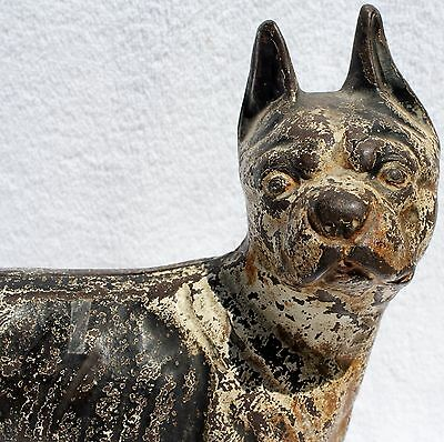 HUBLEY ROLLING DOORSTOP ~ Cast Iron Boston Terrier on Wheels FRENCH BULLDOG dogs