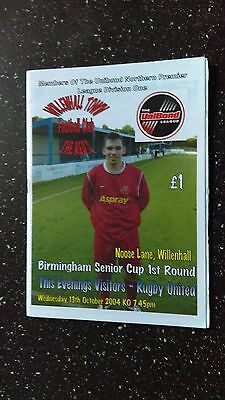 Willenhall Town V Rugby United 2004-05