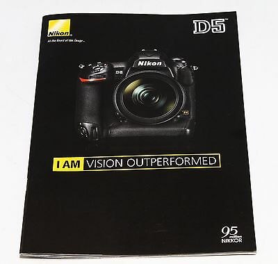 Nikon D5 Digital Camera Brochure Catalog