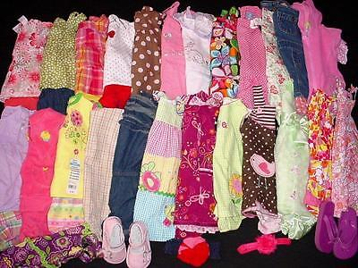 42pcs USED BABY GIRL 12 18 MONTHS SPRING SUMMER CLOTHES LOT FreeShip