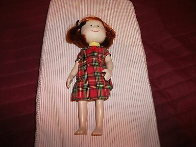 """7.5"""" Madeline Doll by Eden Toys Plaid Dress W/O Shoes"""