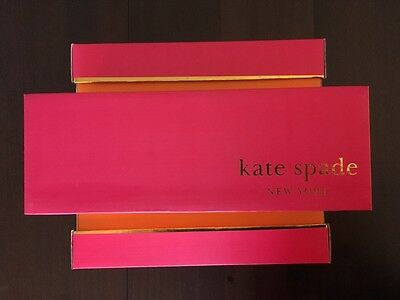 EMPTY Kate Spade shoebox/Pink, Orange with gold foil trim/Brand New
