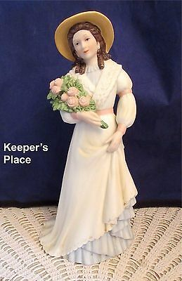 Vintage Homco Charlotte Rose Victorian Lady Woman Porcelain Figurine 1468