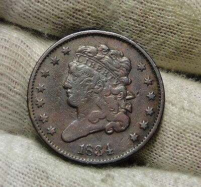 1834 Classic Head Half Cent - Nice Coin - Rare, Only 141,000 Minted (5980)