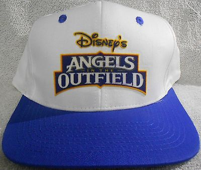 Angels in the Outfield Promotional Snapback Baseball Hat - White Blue Disney