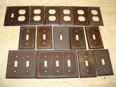 15 Vintage Art Deco Brown Light Switch Outlet Plate Covers Canada