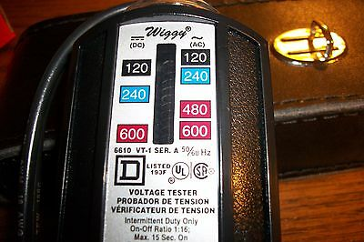 * Square D Company Wiggy Voltage Tester # 6610 with Case