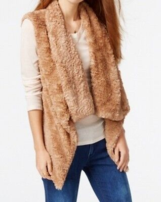 Celebrity Pink NEW Brown Women's Size Large L Vest Faux-Fur Jacket $79 #134