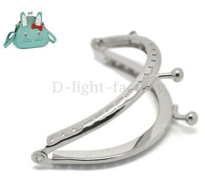 1 Pcs Metal Frame Kiss Clasp Lock Handle Arch For DIY Purse Bag Crafts