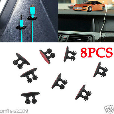 8PCS Car Charger Line Headphone/USB Cable Car Clip Interior Accessories Hotsale