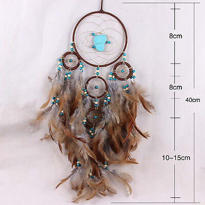 Five-rings Dream Catcher Feathers Large Dream With Beauty Home Crafts Decoration