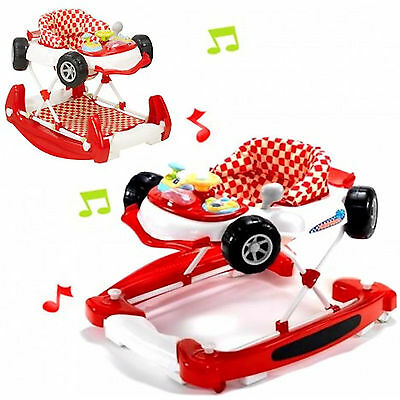 New My Child Car Baby Walker Adjustable Childs Musical Rocker Red