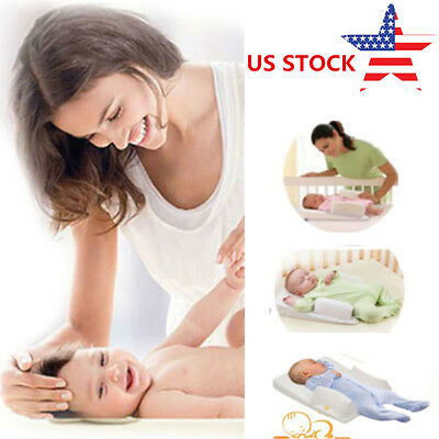 US Newborn Anti Roll Pillow Baby Sleep Prevent Flat Head Positioner Vent Cushion